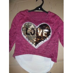 Pull love en sequin