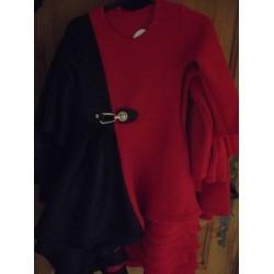Robe rouge et noir pour fille
